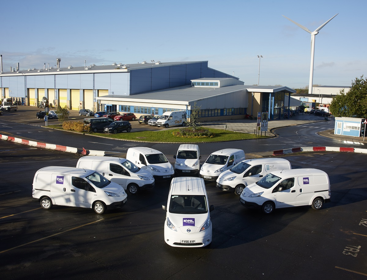 New electric vehicles at the council's Stockholm Road Depot.