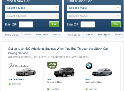 USAA Car Buying Service by Fort Worth Financial Planner Hull Financial Planning