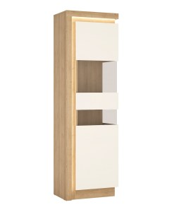 Lyon Tall Narrow Display Cabinet Lhd 164 1cm High In
