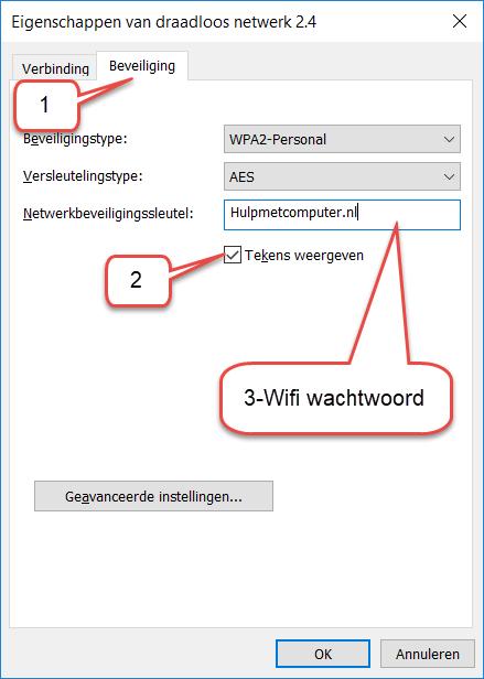wifi wachtwoord