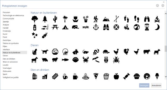 Pictogrammen toevoegen in Word