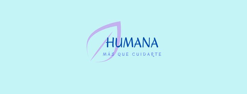 Logotipo HUMANA, cuidado de personas mayores y niños