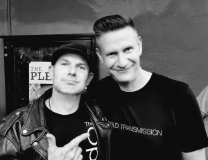 Franck with Andreas Herrmann from Cold Transmission at Blue Shell venue, Cologne, Germany