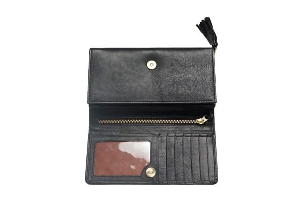 Torso Flap Large Leather Wallet
