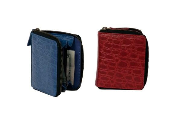 Round Zipper Leather Wallet