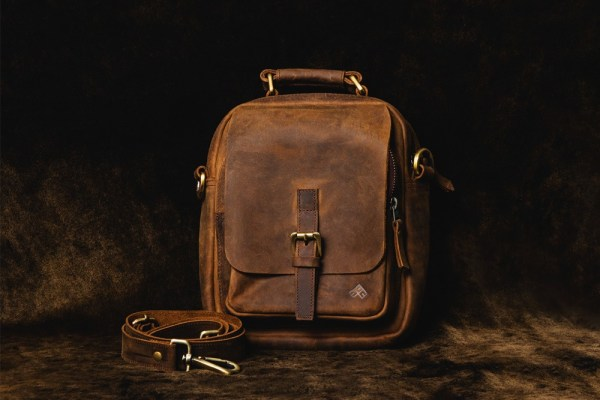 Hunter Leather Side Bag from Front