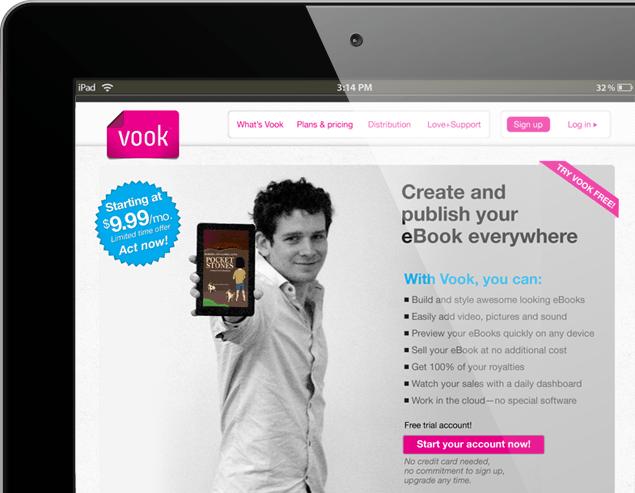 Vook Homepage