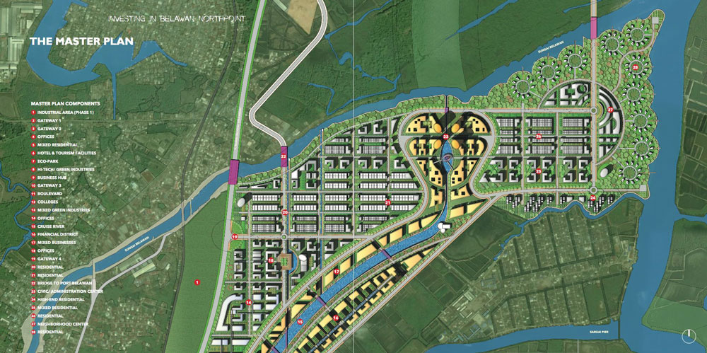 Belawan Northpoint Master Plan by Humanitarian Capital