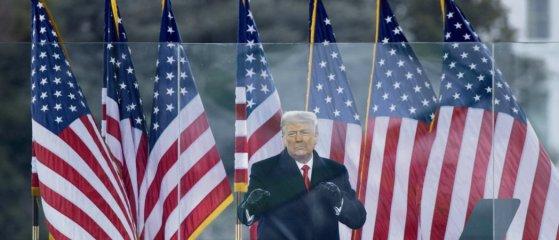 L'histoire retiendra que celui qui voulait « rendre sa grandeur à l'Amérique » a été l'instigateur de la profanation d'une des institutions de la démocratie américaine. © Brendan Smialowski/AFP
