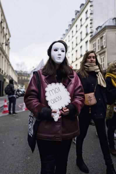 Manifestation à Paris, le 27 janvier, pour protester contre la culture du viol, le patriarcat et le harcèlement sexuel. Edouard Richard/Hans Lucas