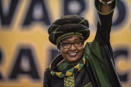 Winnie Mandela, au congrès de l'ANC le 16 décembre 2017. Mujahid Safodien/AFP