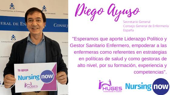 Diego Ayuso con Nursing Now HUGES