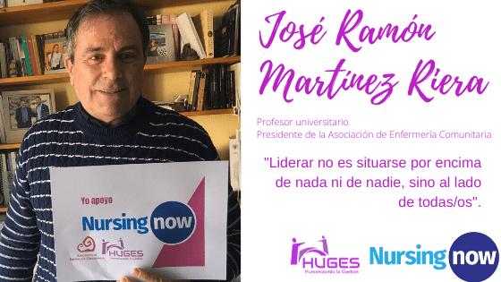 José Ramón Martínez Riera con Nursing Now HUGES