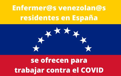 Enfermeros venezolanos quieren ayudar a luchar contra el COVID