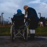 carer and wheelchair
