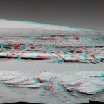 Junda Outcrop and Mt Sharp on Mars