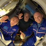 Swanny-Sasha-and-Oleg-goodbye-ISS