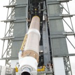 TDRS-L arrives at the vertical integration facility