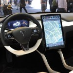 Tesla Model X on the inside