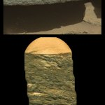 Interesting rock colorized with Mastcam data