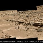 Curiosity panorama Mt Remarkable Sol 603