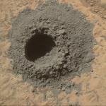 MAHLI Sol 615 Mini-drill hole
