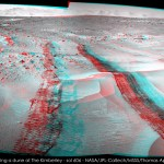 Sol 606, Curiosity crosses some sands LRNavCam anaglyph