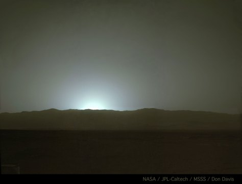 Sunset over Gale Crater Sol 587