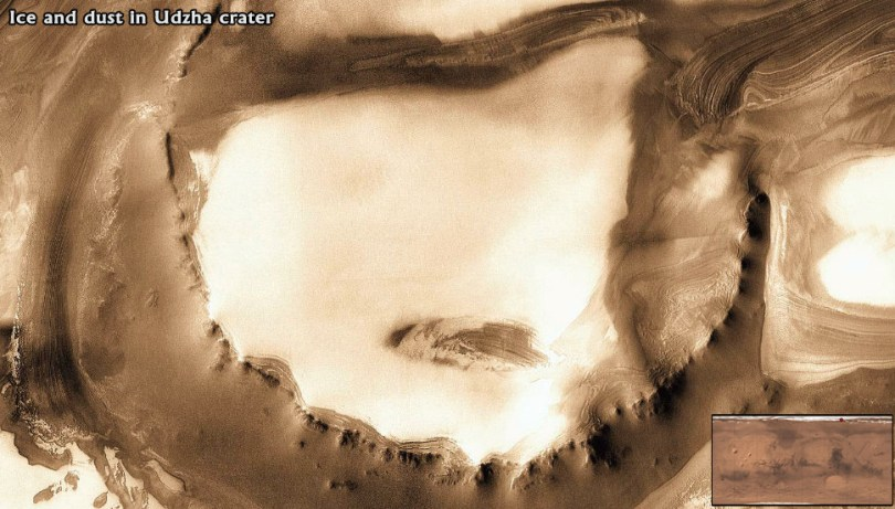 Ice-and-dust-Udzha-Crater