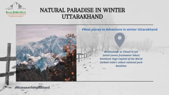Adventure in winter Uttarakhand