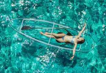 crystal kayaks clear kayak