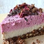 Raw Chocolate Beet Layered Dairy-free Cheesecake