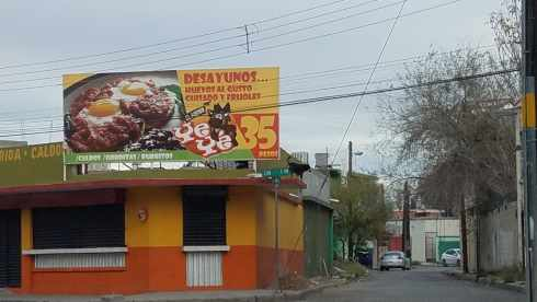 Breakfast spot Juarez Mexico