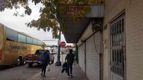Walking to Juarez Mexico Border