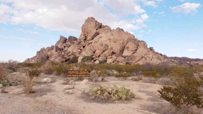 Hueco Tanks State Park Welcome Sign