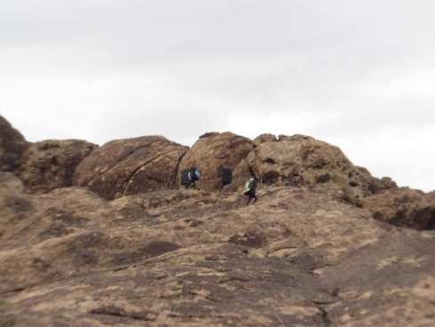 Hueco Tanks Mountain Climbers - Bouldering