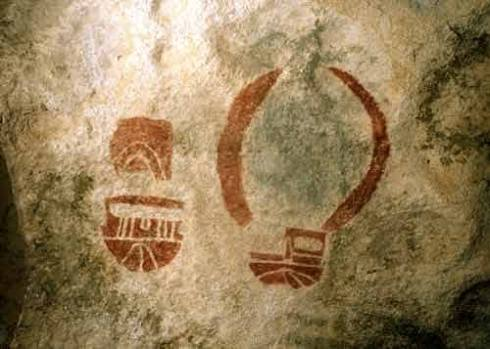 pictograph - mask & bowl