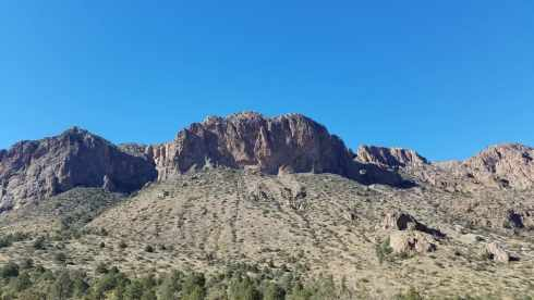Big Bend Mountains Texas - Chisos Basin During Government Shutdown