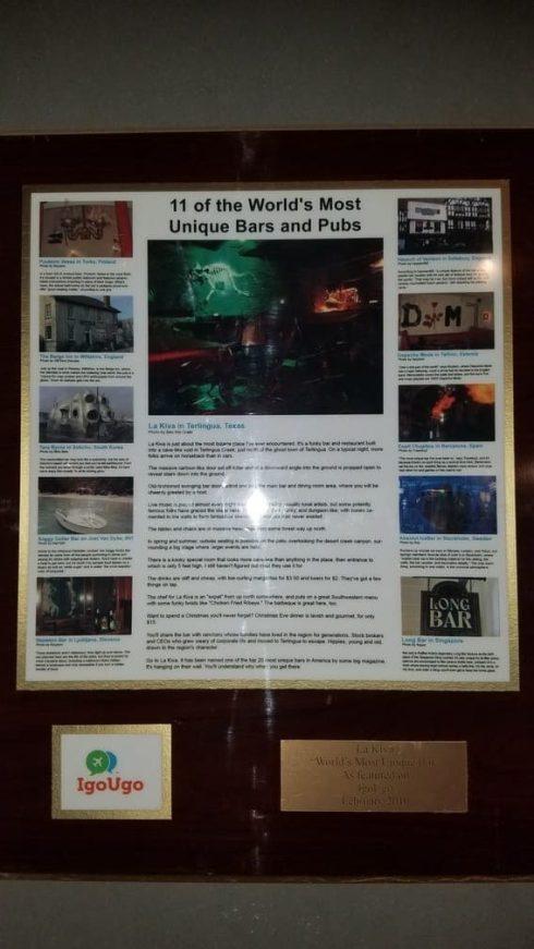 Famous La Kiva Underground Bar and Restaurant