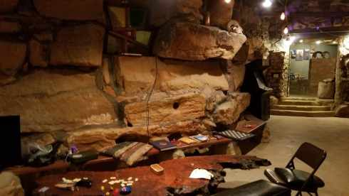 Inside La Kiva Underground Restaurant