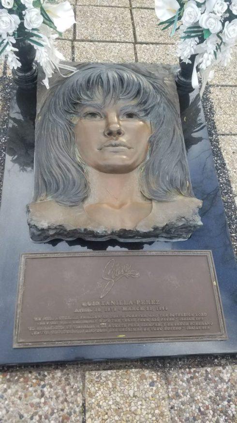 Selena Qs headstone