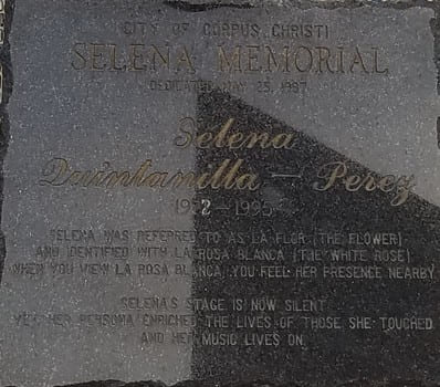 Selena memorial plaque