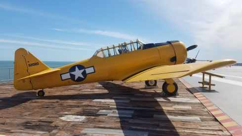 T 6 SNJ Texan USS Lexington