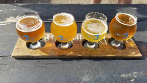flight from Lorelei Brewing Company - Corpus Christi