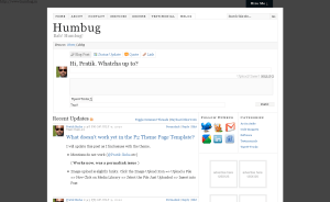 mblog page when user is admin