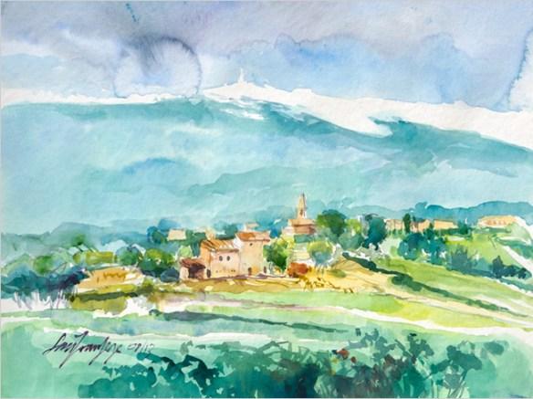 Village de Sainte Colombe et Ventoux. Vaucluse.