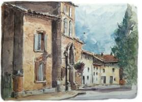 Vaucluse - Modène, porte d'entrée du village.