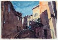 Vaucluse - Caromb, une rue du village.