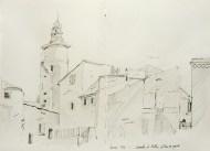 Vaucluse - Caromb, le beffroi, la tour de garde.
