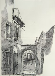 Vaucluse - Le Beaucet, montée des cendres.